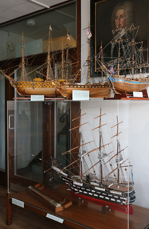 Displays at the Maryport Maritime Museum